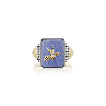 Hummingbird Signet Ring