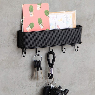 OAKEER Wall-Mounted Mail Holder & Key Hooks