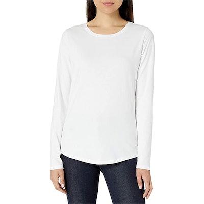 Amazon Essentials 100% Cotton Long-Sleeve Crewneck T-Shirt