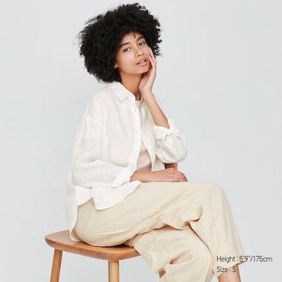 100% Premium Linen Long Sleeved Shirt