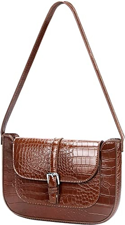 Feith&Felly Retro Croc-Embossed Shoulder Bag