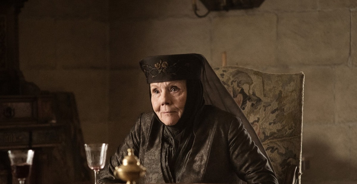 Dianna Rigg as Lady Olenna on Game of Thrones