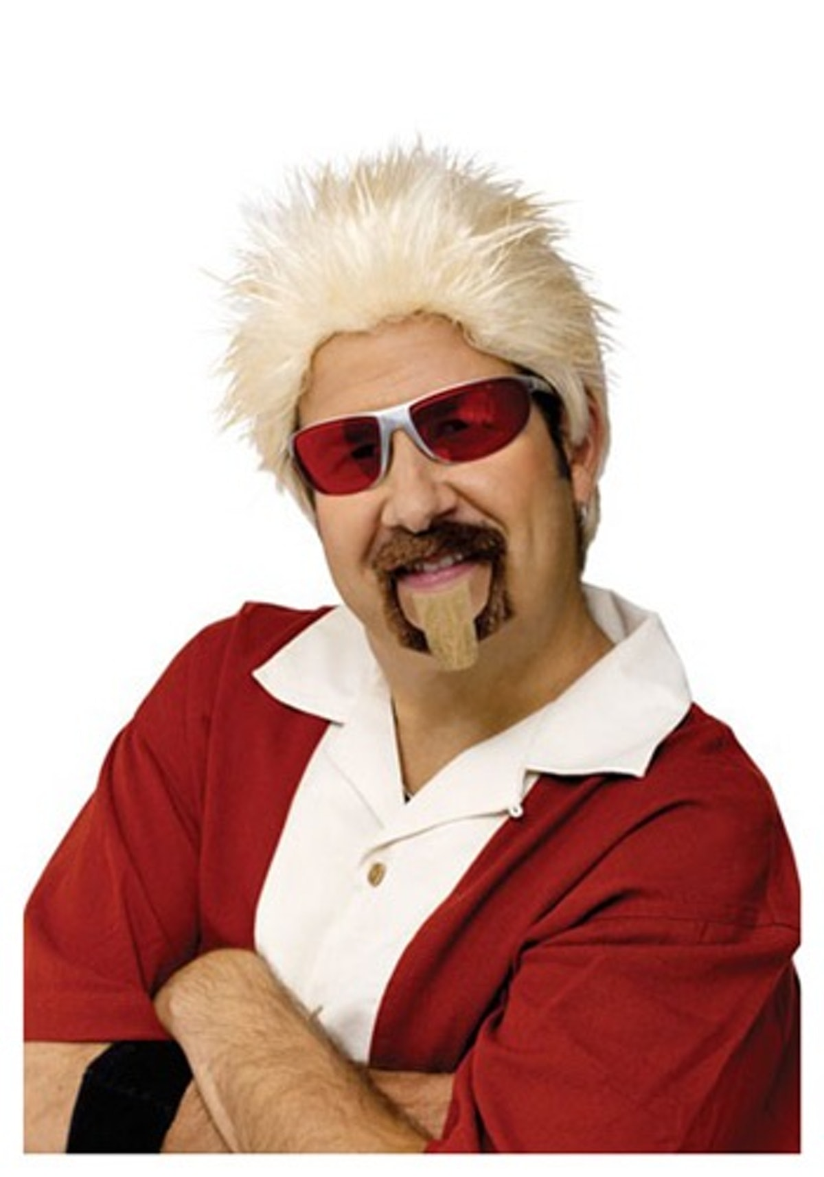 Halloween Costumes Celebrity Chef Wig and Goatee Set