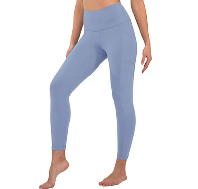 90 Degree By Reflex High-Waist, Ankle Length Leggings with Pockets