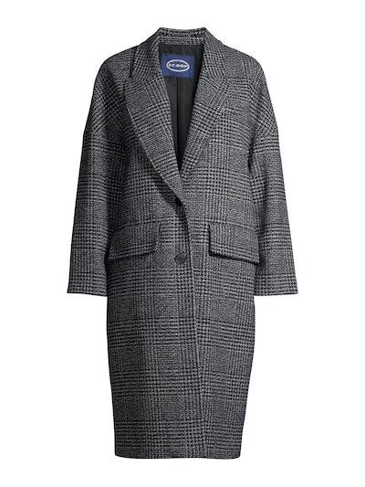 Long Plaid Coat