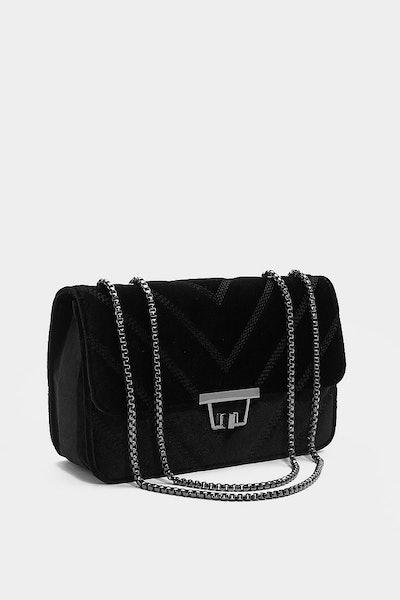 Nasty Gal Want Luxe Good Babe Velvet Bag