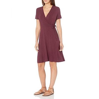 Amazon Essentials Cap Sleeve Faux Wrap Dress