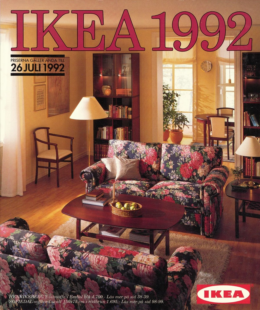 Cover of an IKEA catalog from 1992