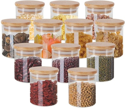 GoMaihe Glass Jars with Bamboo Lids