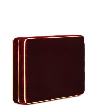Hunting Season The Square Compact Velvet Clutch