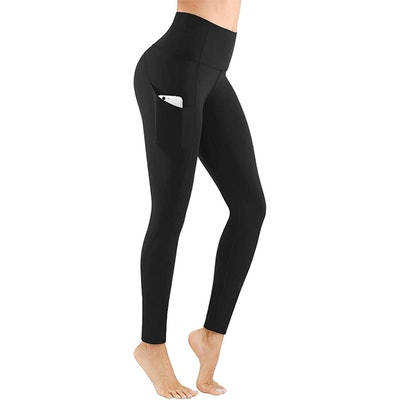 PHISOCKAT High Waisted Yoga Pants With Pockets