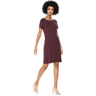 Daily Ritual Jersey Bateau T-Shirt Dress
