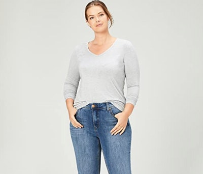 Daily Ritual Plus Size V-Neck Top