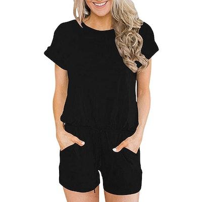 ANRABESS Short Sleeve Jumpsuit