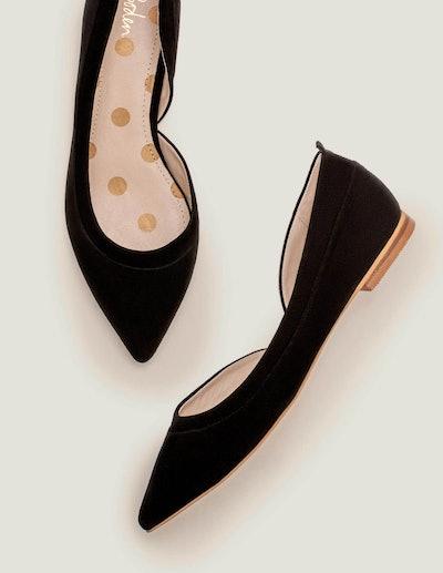 Sophia Pointed Flats - Black