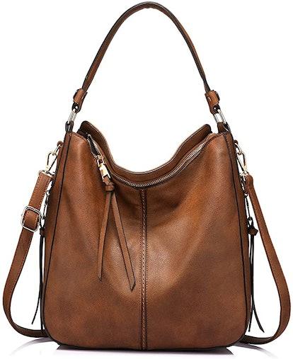 Realer Faux Leather Hobo Bag