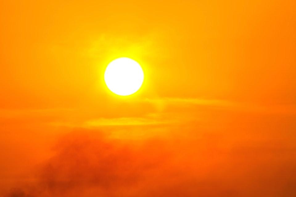 Global warming from the sun and burning, Heatwave hot sun, Climate change, Heatwave hot sun, Heat stroke