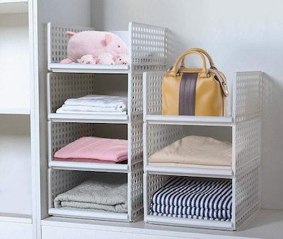 JingPeng Stackable Wardrobe Organisers (4-Pack)