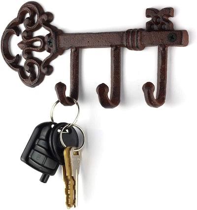 LULIND Wall-Mounted Rustic Key Holder