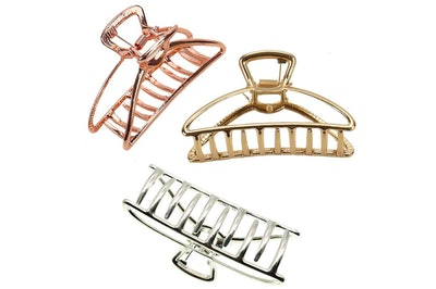VinBee Large Metal Hair Claw Clips (3-Pack)