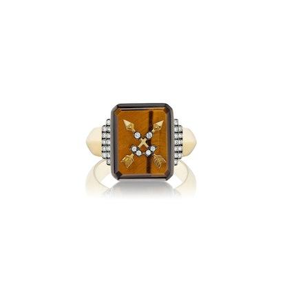 Crossed Arrows Signet Ring