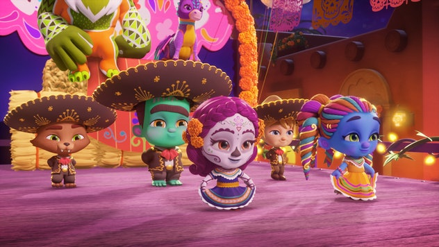 The monsters head to Mexico for a festive parade
