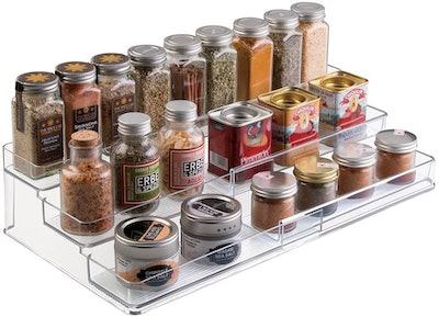 mDesign Expandable Kitchen Cabinet Organiser