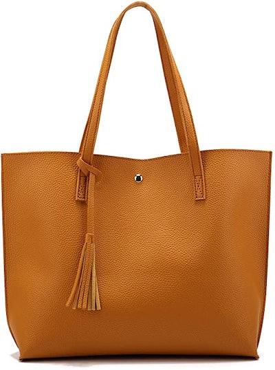 Nodykka Faux Leather Tote Bag
