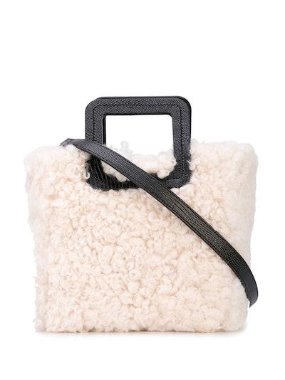 Staud Shirley Shearling Bucket Bag