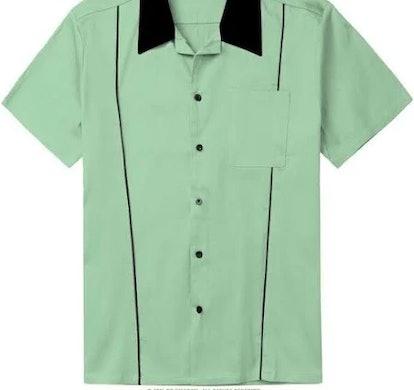 Shoppe Apparel Bowling Shirt Short-Sleeve Button-Up
