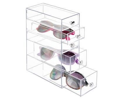 mDesign Stackable Eyewear Storage