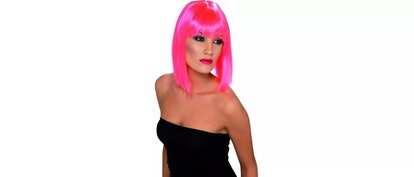 Smiffys Neon Pink Short Glam Blunt With Fringe Costume Wig