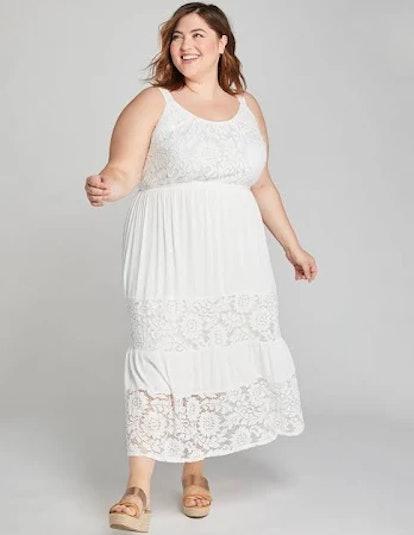 Lane Bryant Lace-Inset Midi Dress