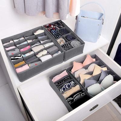 SONGMICS Underwear Drawer Organisers (4-Pack)