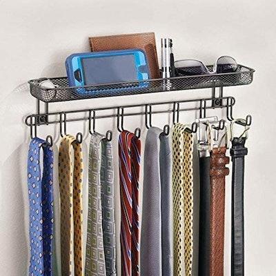 mDesign Coat Rack with Shelf
