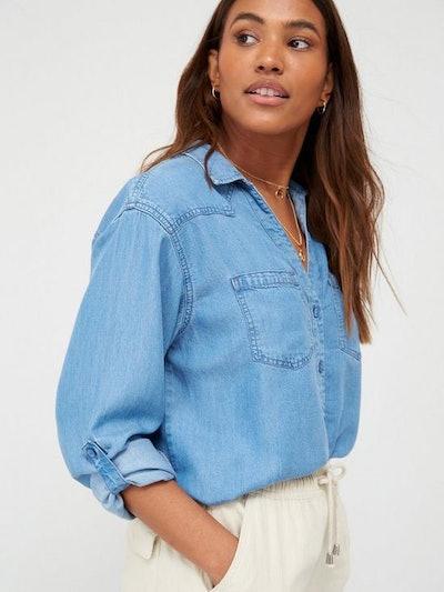 Soft Touch Denim Casual Shirt