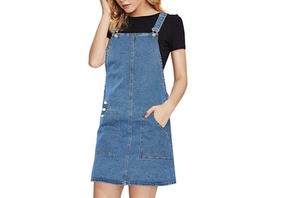 luvamia Denim Overall Pinafore Dress