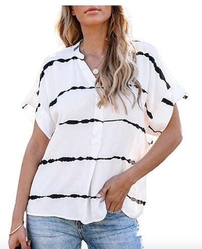 Farktop Women's V-Neck T-Shirt