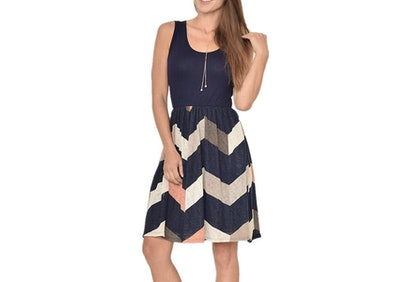 Poulax Casual Print Mini-Dress