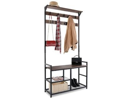 HOMEKOKO Coat Rack Bench