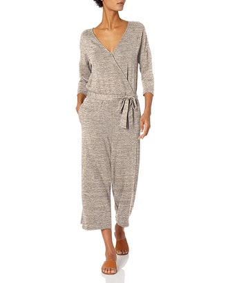 Daily Ritual Women's Supersoft Terry Elbow-Sleeve Jumpsuit