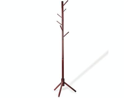 Zober Wooden Tree Coat Rack Stand