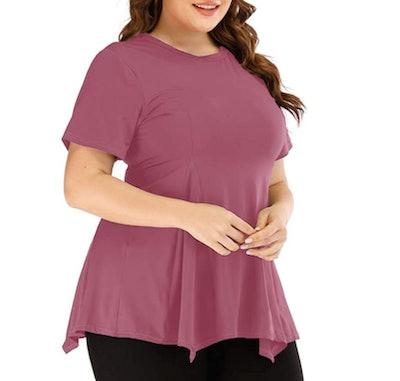 Uoohal Plus-Size Athletic Shirt