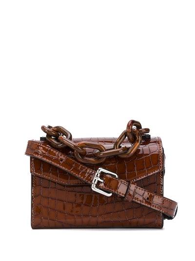 Ganni Crocodile-Effect Mini Bag