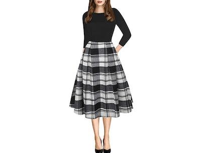 oxiuly Vintage Dress