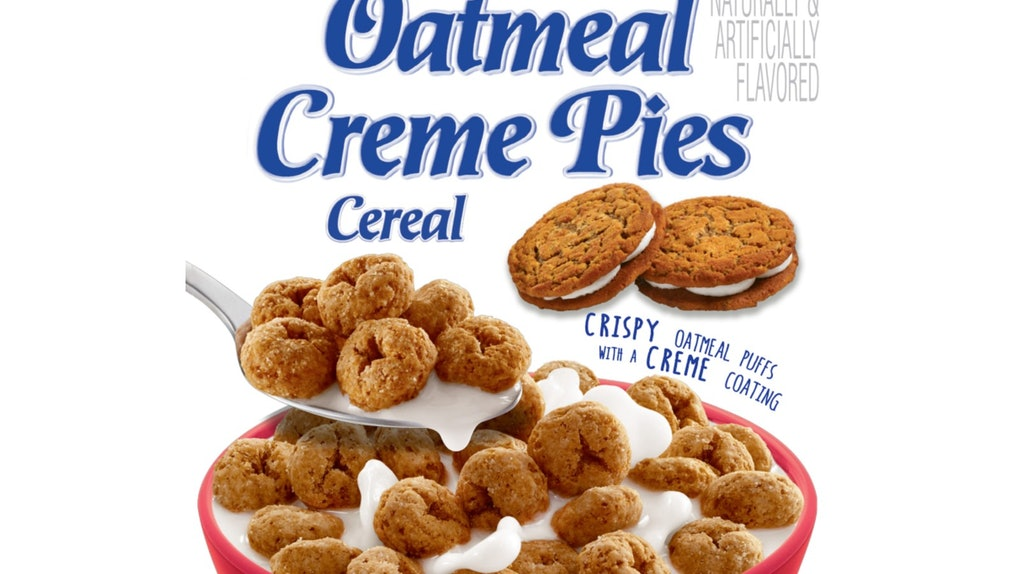 Little Debbie oatmeal creme pie cereal is coming soon.