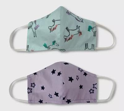 Cat & Jack™ Kids' 2 Pack Cloth Face Masks