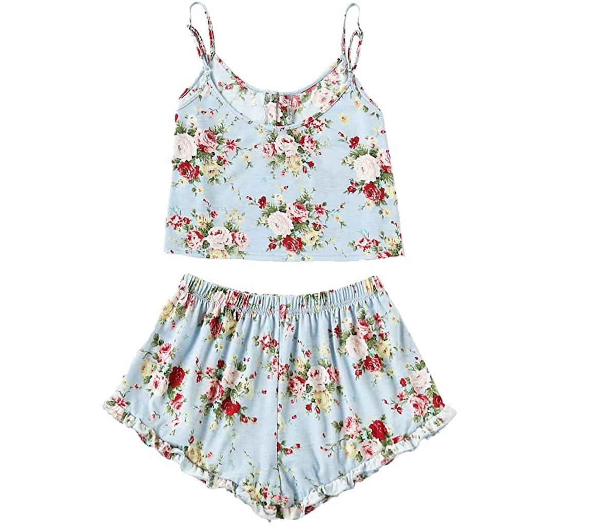 SheIn Women's Floral Print Pajamas Set