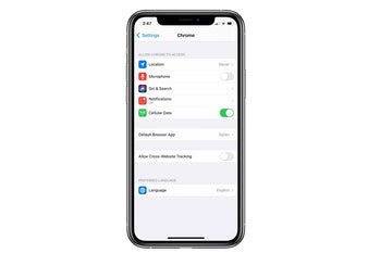 iOS 14 allows users to change their default web browser.