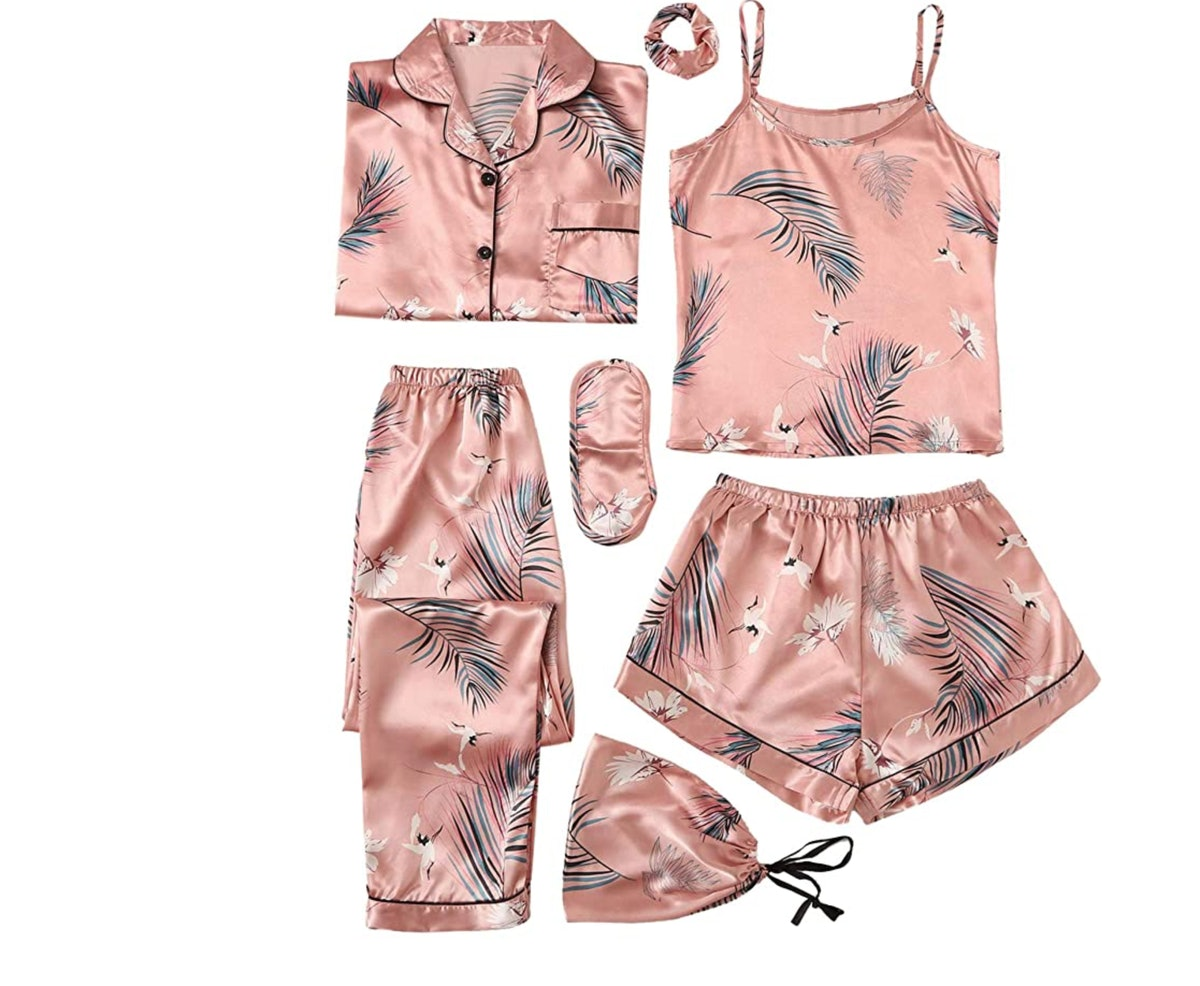 SheIn Women's 7pcs Pajama Set